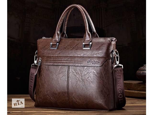 купить бу Стильная мужская сумка с ручками. Размер 36-26-6 см. Варианты в Киеве