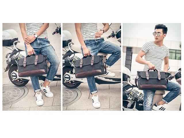продам Стильная мужской тканевый портфель-сумка  ручкой. Размер 38,5-26,5-13 см бу в Киеве