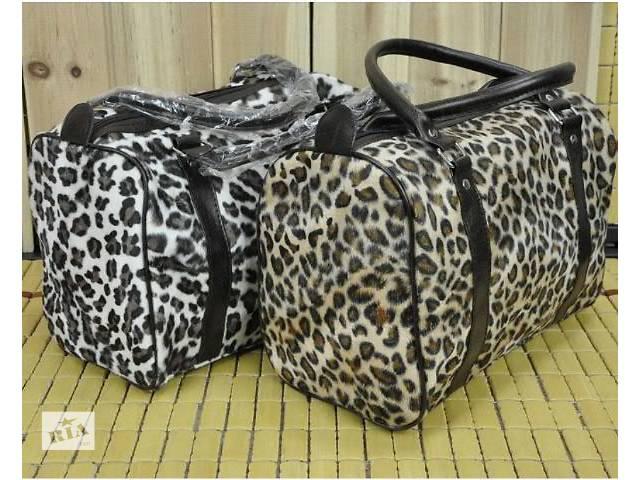 купить бу Стильная и удобная велюровая женская сумка под леопард в Запорожье
