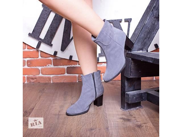 продам Стильные новые ботиночки, ботинки из натурального замшу бу в Ивано-Франковске