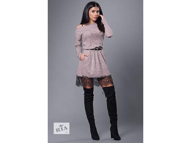 купить бу Стильное платье с гипюром в Хмельницком