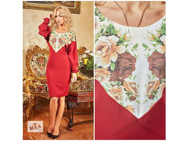 продам Стильное платье с цветочной вставкой бу в Хмельницком