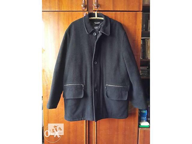 купить бу Стильное шерстяное мужское пальто в Киеве