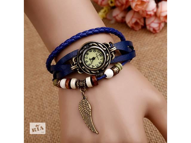 бу Стильные часы с браслетом (цвет коричневый и синий) в Запорожье