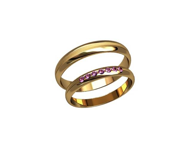 Стильные золотые свадебные кольца, арт.20002- объявление о продаже  в Запорожье