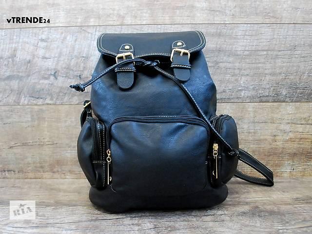 купить бу Стильный черный рюкзак в Одессе