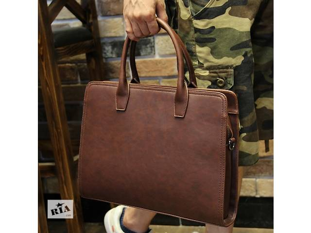 Стильный мужской портфель. Размер 39-30-10 см- объявление о продаже  в Киеве