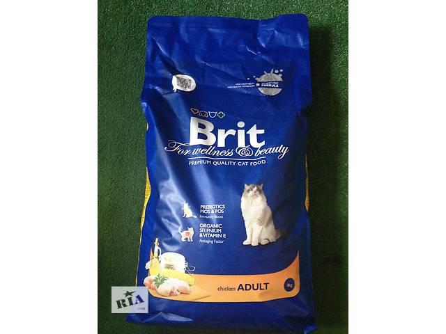 купить бу Сухой корм для кошек Brit Premium Adult Chicken 8 кг в Киеве