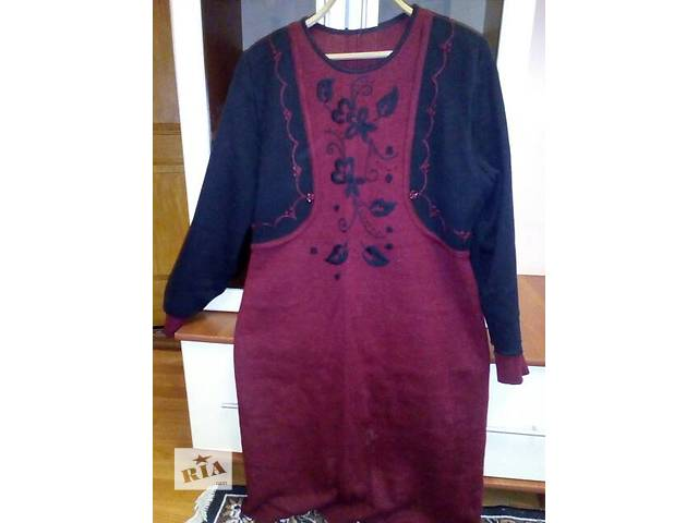 купить бу Сукня 100%шерсть,для зими,розмір 50-52. в Лохвице