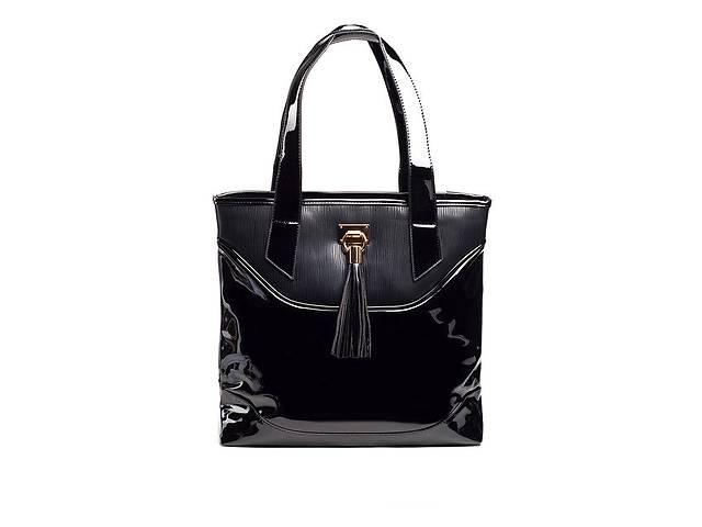 купить бу Сумка лакированная Kiss Me Black Q722b. Только опт - от 10 сумок в Одессе