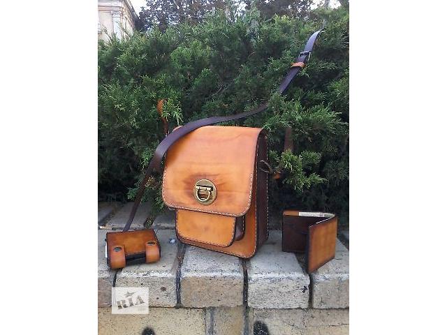бу Сумка-планшетник из натуральной кожи ручной работы в Одессе