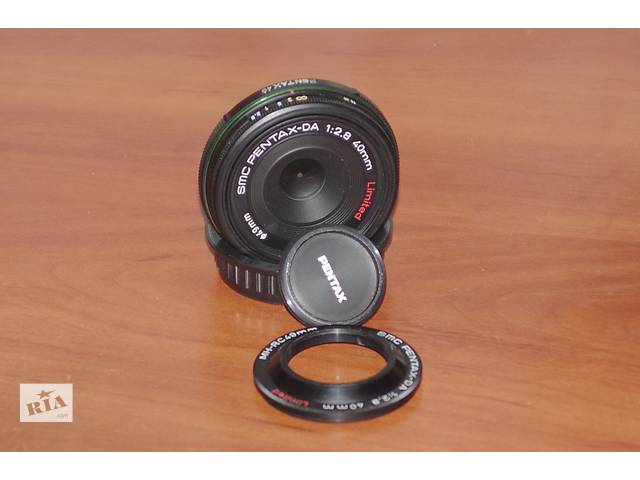 купить бу Распродажа. Супер объектив Pentax DA 40mm f2.8 limited в Киеве