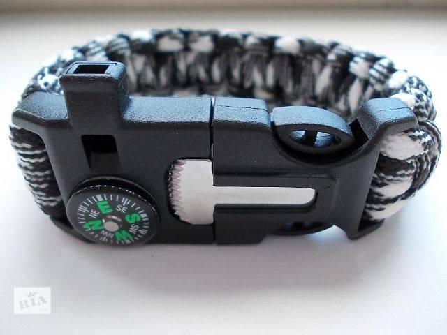 купить бу Survival Paracord Bracelet браслет для выживания 5 в 1  в Киеве