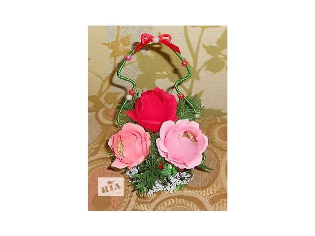 Сувенирная елочка с розами и конфетами- объявление о продаже  в Мариуполе (Донецкой обл.)
