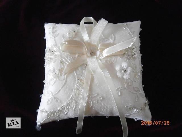 купить бу Свадебная подушечка под обручальные кольца в Киеве