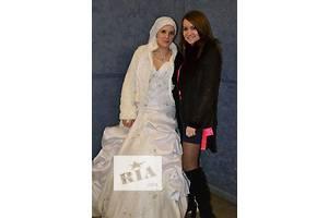 Свадебное платье и полушубок б/у