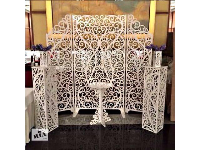 Свадебные арки, ширмы, колоны, объемные слова, рамки, гербы, ажурные стойки, свадебные декорации, фотобутафория- объявление о продаже  в Киеве