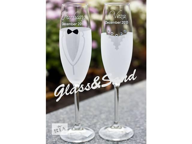 купить бу Свадебные бокалы для шампанского Bohemia (Martina). в Днепре (Днепропетровск)