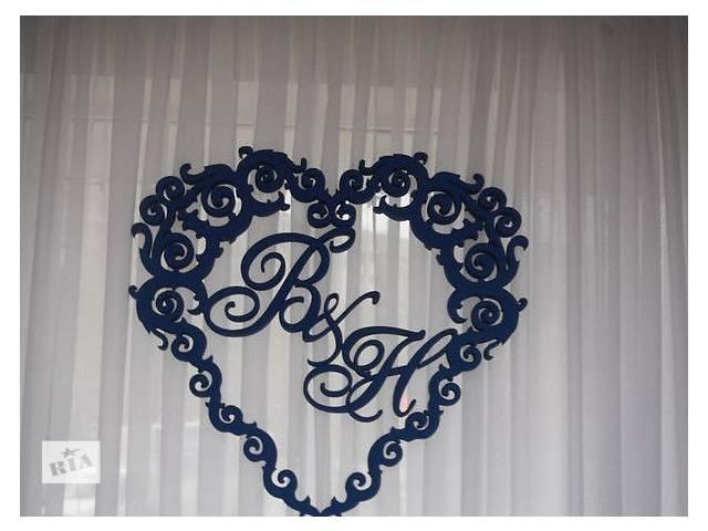 купить бу Свадебные рамки, декорации, реквизиты для фотосессий из пенопласта в Киеве