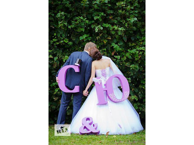 Свадебный декор, свадебные арки, объемные буквы, рамки, гербы, сердечки, цифры- объявление о продаже  в Киеве