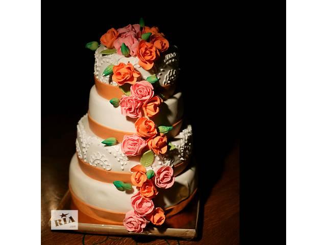 купить бу Свадебный торт на заказ в Харькове