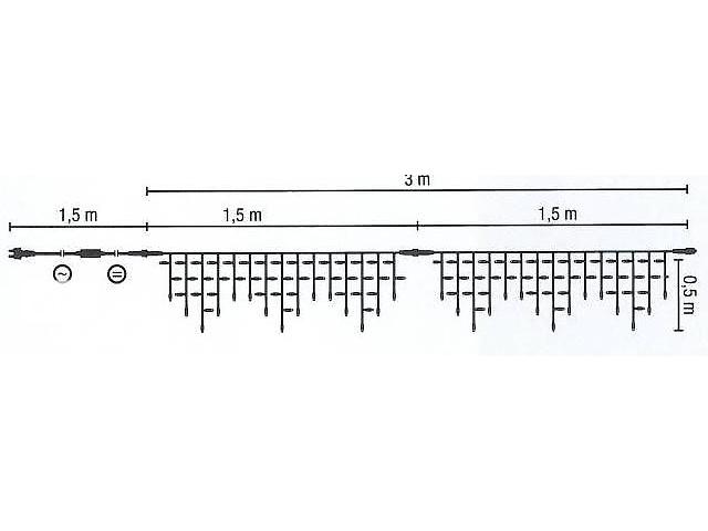 Светодиодная бахрома 3х0.7м - объявление о продаже  в Одессе