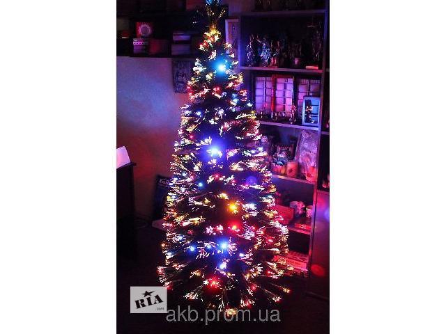 Светящаяся светодиодная оптоволоконная елка 180 см, 7 режимов- объявление о продаже   в Украине