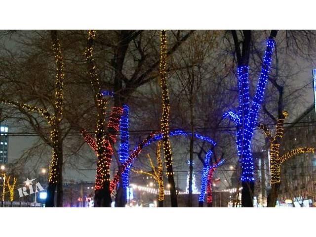 купить бу Светодиодное освещение деревьев,украшение деревьев гирляндой,монтаж гирлянд  в Украине
