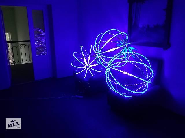 купить бу Светодиодный шар рекламный – алюминевый каркас шара под светодиодный шнур в Черкассах
