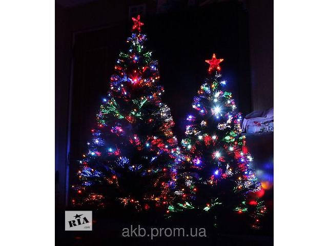 бу Светящаяся светодиодная оптоволоконная елка 120 см, 7 режимов в Киеве