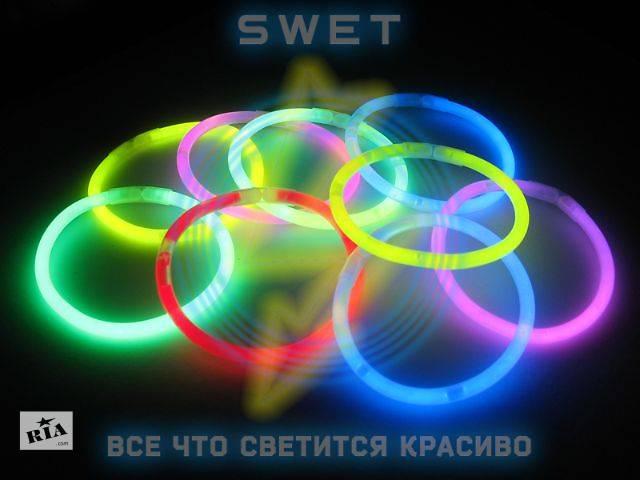 бу Светящиеся браслеты неоновые (мультиколор) (100 шт) в Киеве