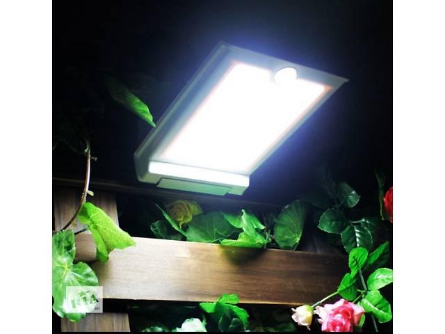 купить бу Светильник на солнечной батарее 46LED c датчиком движения и датчиком освещенности, фонарь в Южном