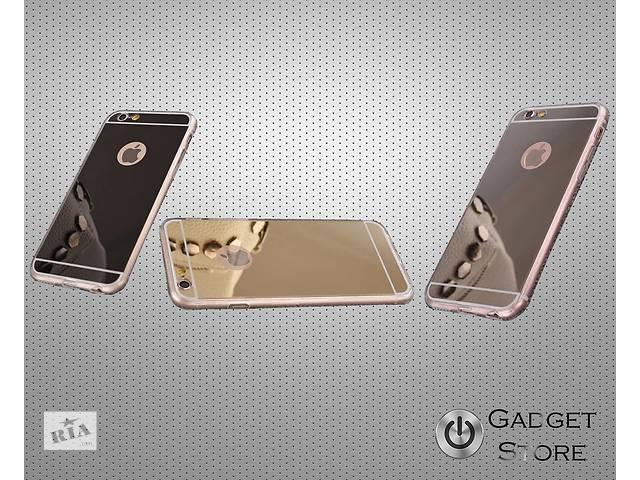 купить бу Силиконовый чехол зеркало на для айфон iphone 5,5S,6,6S в Киеве