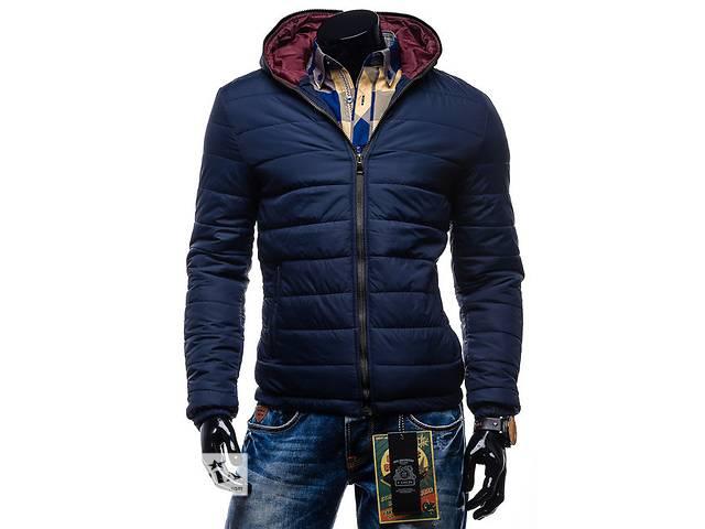 бу Синяя дутая зимняя куртка на синтепоне в Черкассах