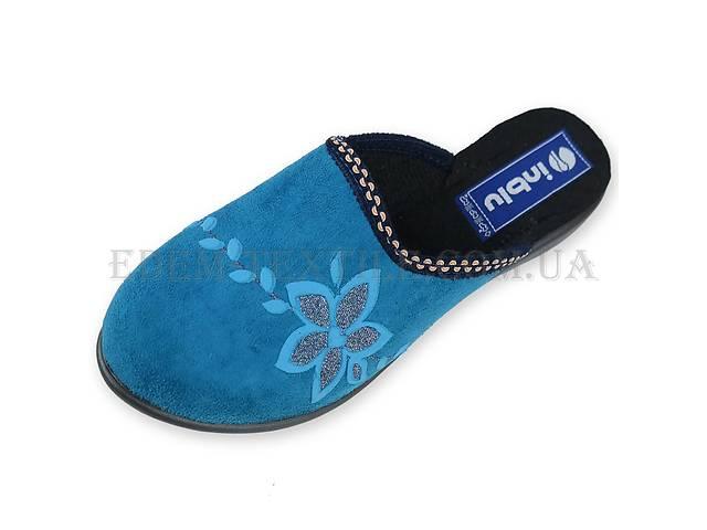 бу Тапочки женские Inblu NR-1Q светло-синие в Полтаве