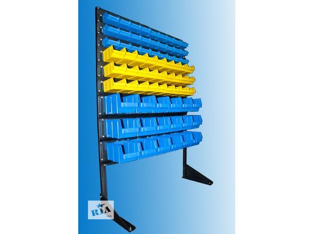 продам cтеллаж складской 1,5м + 72 пластиковых ящика бу в Мариуполе (Донецкой обл.)