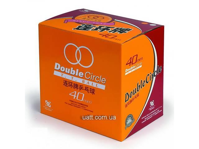купить бу Теннисные мячи DHS Double Circle 40 мм (144 шт., белые) в Киеве