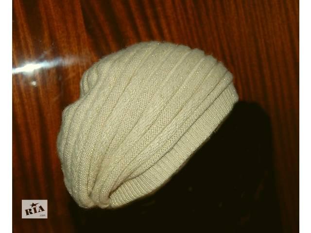 купить бу Теплая вязаная двойная шапочка из ангоры.  в Харькове