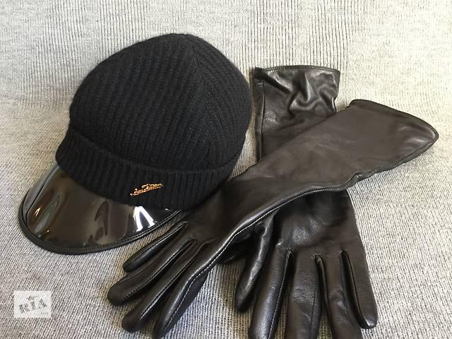 купить бу Кашемировая  шапочка Louis Vuitton (France) с прозрачным козырьком в Киеве