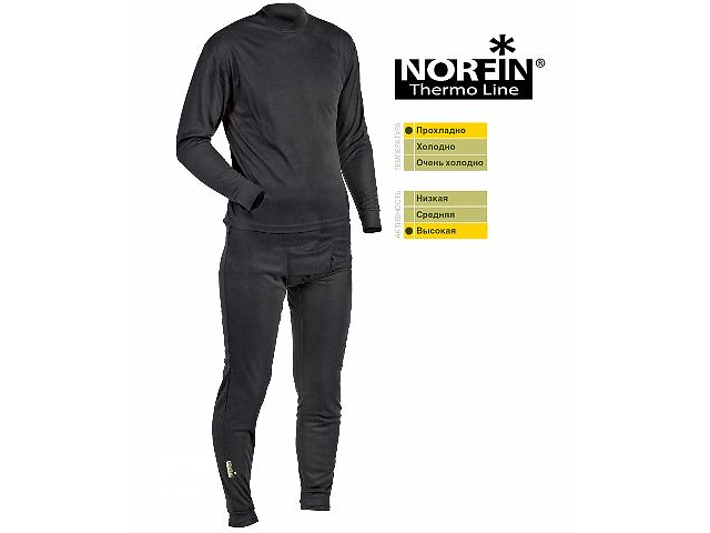 продам Термобелье Norfin Thermo Line (черное) (30081) бу в Виннице