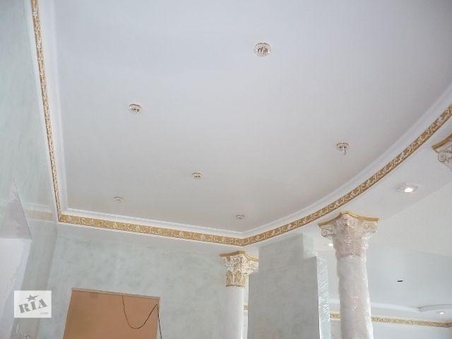купить бу Тканевый натяжной потолок - натяжной потолок из ткани. в Киеве