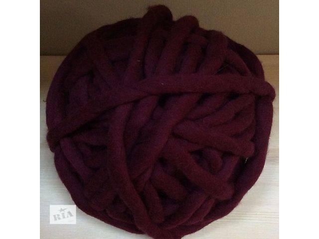 Толстая пряжа шерсть 100 для вязания