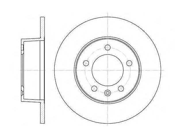 купить бу  Тормозной диск задний для автобуса RENAULT MASTER (II) /OPEL MOVANO 98-(305X12MM) в Черновцах