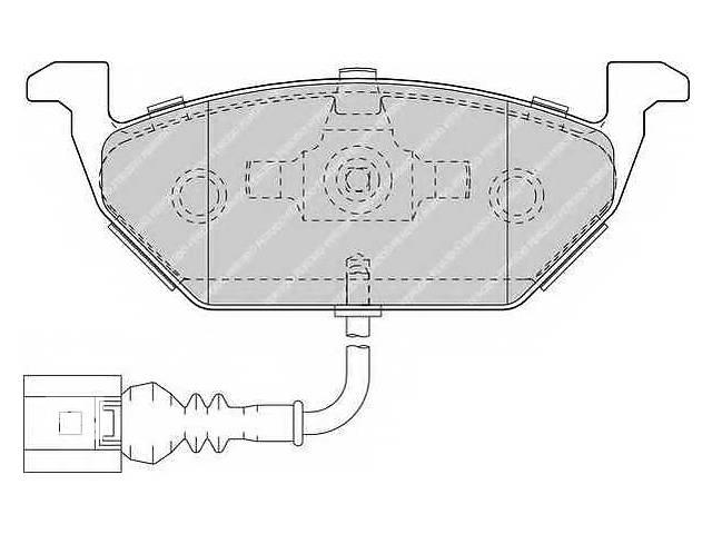 бу  Тормозные колодки комплект для легкового авто   AUDI A3 II 1.6\1.9 / SKODA Octavia II  в Черновцах