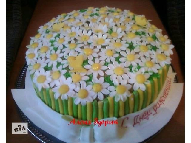 Торт с ромашками - объявление о продаже  в Киеве