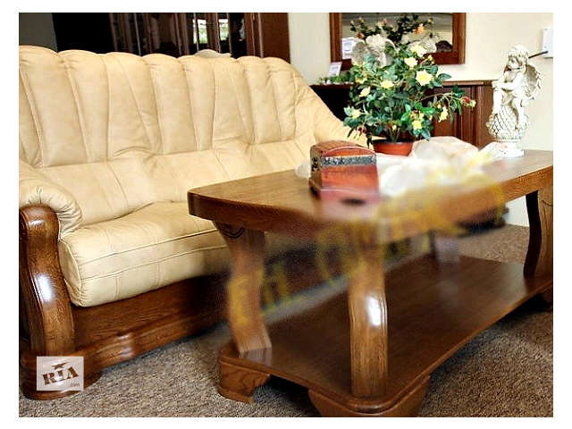 Трехместный диван из натуральной кожи Pyka Fryderyk II- объявление о продаже  в Киеве
