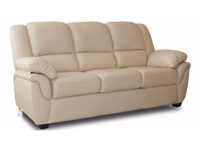 бу Трехместный кожаный диван модель Alabama Bis, белый цвет в наличии в Киеве