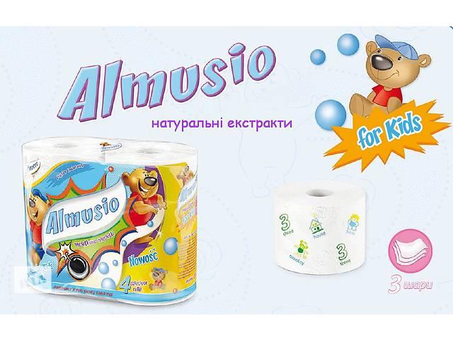Трехслойная туалетная бумага для детей Almusio for Kids от Almus Польша- объявление о продаже  в Нововолынске