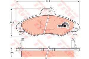 Тормозные колодки комплект Ford