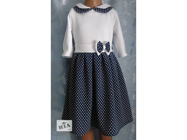 купить бу Трикотажное детское платье со складками, модель № 2 в Хмельницком